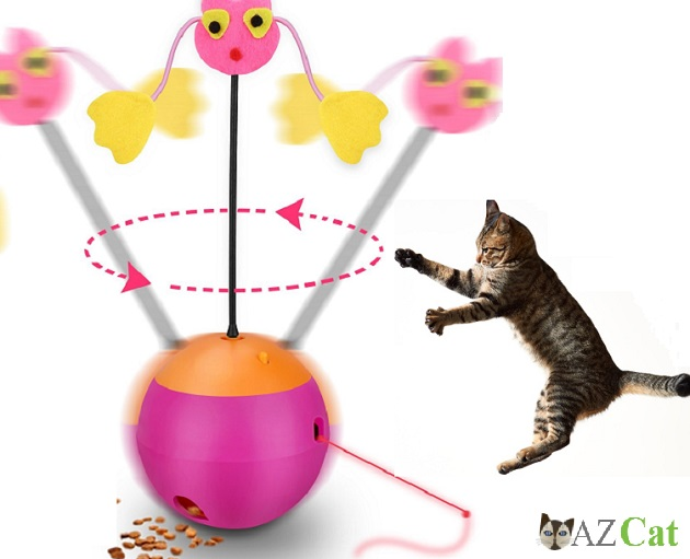 Automatic Spinning Cat Toy Ball Tumbler
